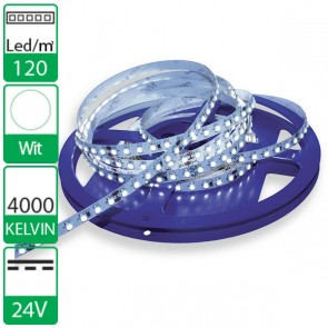 1m 120 Led's flexibele LED strip 24V  neutraal wit 4000K