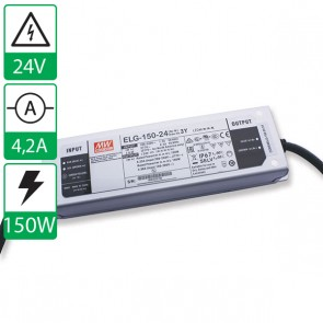 24V 4,38A 150W Mean well voeding ELG-150-24-3Y
