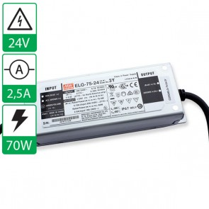 24V 2,5A 75W Mean well voeding ELG-75-24