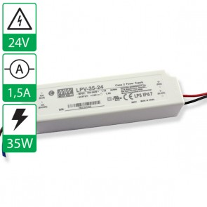 24V 1,5A 35W Mean well voeding LPV-35-24