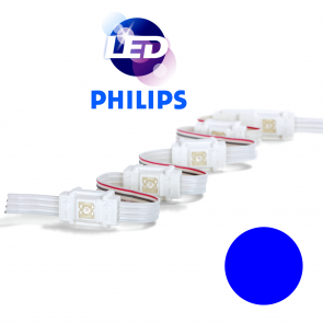 PHILIPS Blauwe waterdichte LED module met 1 power LED LP W8000
