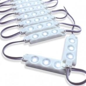 Semi-waterdichte LED strip met 3 5050 LEDs Wit