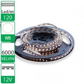 1m 120 Leds 12V SMD flexibele LED strip Wit 6000K