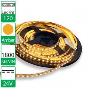 1m 120 Led's flexibele LED strip 24V Amber 1800K