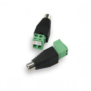 DC 2.1 plug female met schroefconnectie