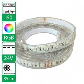 85cm 60Leds flexibele ledstrip 24V RGB