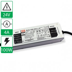 24V 4A 100W Mean well voeding ELG-100-24-3Y