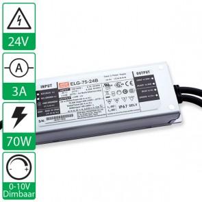 24V 4,38A 75W Mean well voeding, 0-10V dimbaar ELG-75-24B